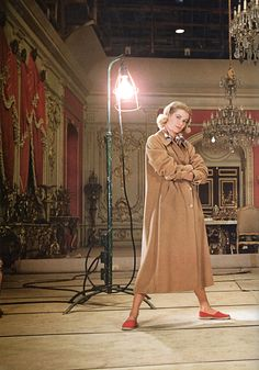 """Grace Kelly — Hollywood Studio """"The Swan"""", 1955. Reportage by Howell Conant."""