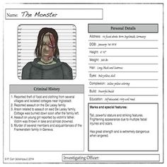 The main purpose of this product is for students to take on the role of either defender or prosecutor of the main villain from one of the literary classics listed below. Using the resources supplied here they can investigate the book for textual evidence that will support claims that the character has or has not carried out any crimes or villainy and then, either on paper or in the classroom, engage in a mock trial to demonstrate their persuasive argument skills.
