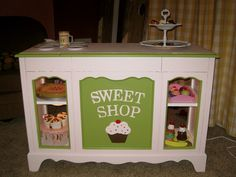 DIY Kid's Bakery, Repurposed Furniture