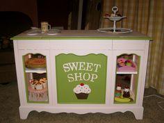 DIY Kid's Bakery, Repurposed Furniture
