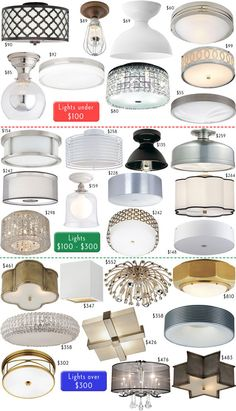 Flush Mount Ceiling Lights  to get rid of those blah plain builder's grade lights they put into every room.
