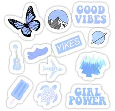 High quality Packs gifts and merchandise. Inspired designs on t-shirts, posters, stickers, home decor, and more by independent artists and designers from around the world. Stickers Cool, Bubble Stickers, Phone Stickers, Printable Stickers, Planner Stickers, Macbook Stickers, Bleu Pastel, Pastel Pink, Homemade Stickers