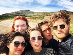 The cast are on a short holiday at the moment and Kyle (Francis), Ruby (Verity), Eleanor and Jack (George Warleggan) are all in Iceland right now (before filming Season 2 in visiting with Heida Reed! Photo: HeidaReed ~ from The Power of Poldark FB page Poldark Tv Series, Poldark Cast, Poldark 2015, Demelza Poldark, Ross Poldark, Poldark Actors, Movies Showing, Movies And Tv Shows, Heida Reed