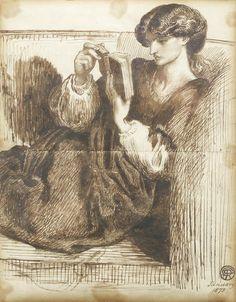 Dante Gabriel Rossetti (British, 1828-1882) Portrait of Jane Morris