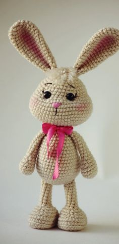 Cute and Amazing Amigurumi Crochet Pattern Ideas Part amigurumi patterns free; amigurumi to go; Crochet Bunny, Crochet For Kids, Crochet Animals, Free Crochet, Easter Crochet, Crochet Toys Patterns, Stuffed Toys Patterns, Amigurumi Doll Pattern, Cat Amigurumi