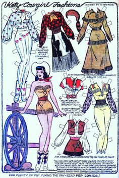 1956 Katy Keene paper doll cowgirl / kb-outofthisworld.blogspot.co.uk