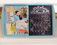 Magnetic Chalkboard made with Close Knit
