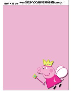 Menu Peppa Pig Princesa: