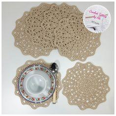Sottotazza a uncinetto in cotone cable4 ☆ color sabbia : Cucina e servizi da tavola di crochettattingbyale