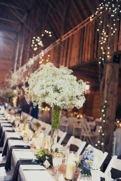 baby's breath centerpieces  //  melissa mccrotty photography