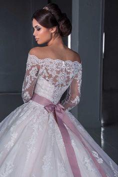 Lace White/Ivory Wedding Dress Bridal Ball Gown Custom Size 6-8-10-12-14-16-18