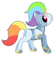 Mlp Robot Pony Robot unicorn has the fan
