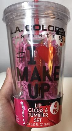 L.A. Colors Women's lip glosses cup Straw Makeup Beauty Gifts    eBay