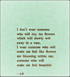 you make me feel beautiful poem