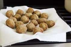 Fried eggplant and chickpeas // appetizer?