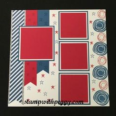 July Scrapbook Pages, 4th of July, Swirly Bird, stampwithpeggy.com