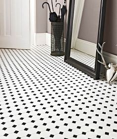 Black tiles at Topps Tiles. Suitable for walls & floors in a range of materials. White Mosaic Tiles, White Bathroom Tiles, Black Tiles, Bathroom Floor Tiles, Kitchen Tiles, Black Grout, Bathroom Modern, Bathroom Colors, Wall Tiles