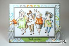 Art Impressions Rubber Stamps: Fashionistas! by Karen Day