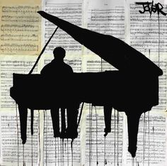 View LOUI JOVER's Artwork on Saatchi Art. Find art for sale at great prices from artists including Paintings, Photography, Sculpture, and Prints by Top Emerging Artists like LOUI JOVER. Piano Y Violin, Piano Art, Drawing Piano, Dream Drawing, Silhouettes, Diy Crafts To Do At Home, Fun Crafts, Newspaper Art, Art Graphique