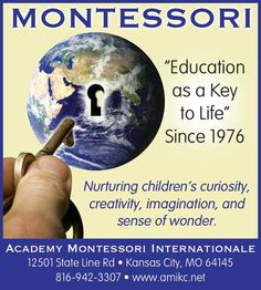 Academy Montessori Internationale has provided quality education for over 30 years in the Kansas City area!! // For more family resources visit www.ifamilykc.com! :)