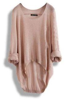 A 072216 bb Perspective irregular hollow bat sleeve knit shirt long sleev from funkycatsterz