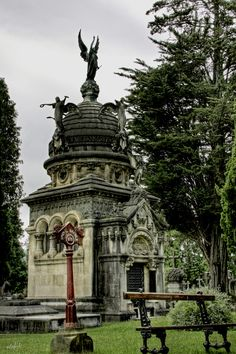 This is a major mausoleums in the cemetery of Derio (Spain).