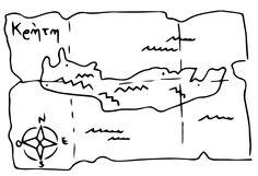 carta geografica (disegno di: LIM - Laboratorio Interattivo Manuale e Archeoplanet)