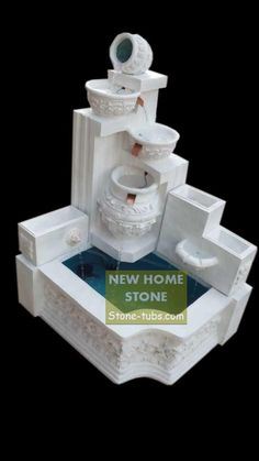 Small Marble Fountains Modern Fountain For Small Garden Modern Fountain, Indoor Fountain, Indoor Water Features, Marble, New Homes, Stone, Garden, Design, Rock