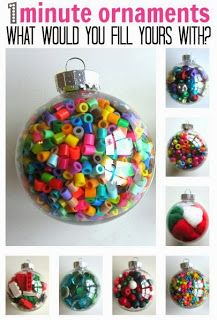 **MC Preschool** 1 Minute ornaments -  How to Keep the Kiddos Busy...