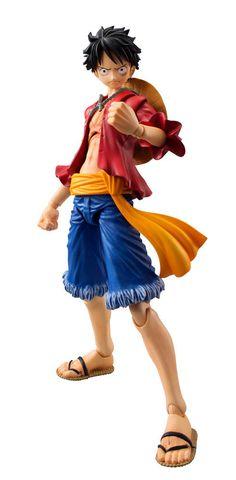 Figura Monkey D. Luffy 18 cm. One Piece. Megahouse Bonita figura articulada del protagonista Monkey D. Luffy de 18 cm de altura, fabricada en PVC, 100% oficial y licenciada acompañada de accesorios y presentada en una caja con ventana.