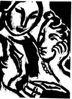 Beautiful 1921 Woodcuts by Virginia Woolf's Sister | Brain Pickings