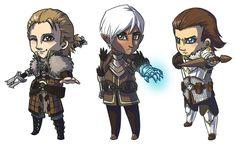 Dragon Age Chibis by yamadeus.deviantart.com on @deviantART