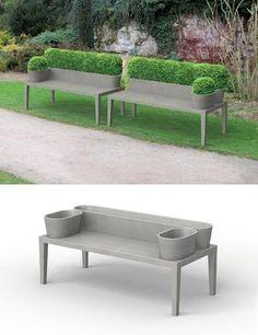 Hedge bench outdoor