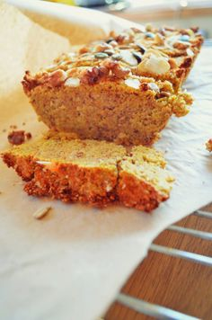 Paleo gluten free carrot coconut and walnut loaf. Perfect for afternoon tea!