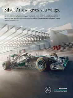 Silver Arrow: gives you wings. Mercedes F1 2014