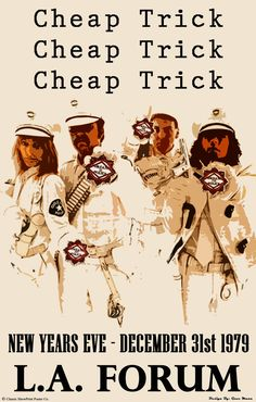 Cheap Trick Concert Poster https://www.facebook.com/FromTheWaybackMachine