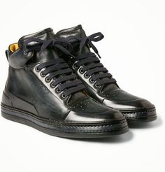 Brand New BERLUTI PLAYTIME Collection - Black Calf Leather - thestylerush.com