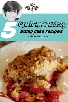 5 Quick and easy dump cake recipes Apple Dump Cakes, Dump Cake Recipes, Baking Recipes, Dessert Recipes, Apple Cake, Dessert Ideas, Homemade Desserts, Delicious Desserts, Yummy Food