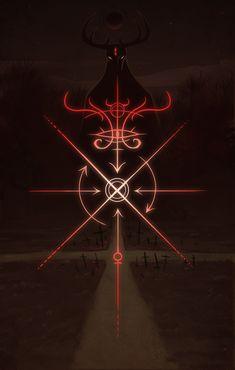 The Mystic Mire — Sigil of the Crossroads print available here Alchemy Symbols, Magic Symbols, Ancient Symbols, Tatouage Plumeria, Satanic Art, Occult Art, Magic Circle, Book Of Shadows, Sacred Geometry