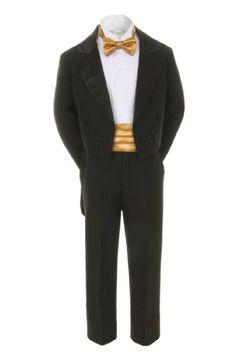 Unotux 7pcs Boy Black Suit Tuxedo with Tail Satin Gold Bow Tie Cummerbund (S-20) (4T) Unotux http://www.amazon.com/dp/B00UMEHR32/ref=cm_sw_r_pi_dp_If9Svb1KFFSVZ