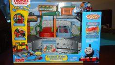 Amazon.com: Thomas & Friends Take n Play Portable Railway: Thomas at the Ironworks: Toys & Games