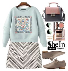 Shein by oshint on Polyvore featuring polyvore fashion style MANGO Accessorize Revo Charlotte Tilbury clothing