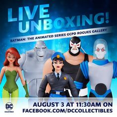 Don't forget to stream the unboxing of the BTAS Rogues Gallery on DC Collectibles this Thursday at 11:30 AM PT! #Batman #dccomics #superman #manofsteel #dcuniverse #dc #marvel #superhero #greenarrow #arrow #justiceleague #deadpool #spiderman #theavengers #darkknight #joker #arkham #gotham #guardiansofthegalaxy #xmen #fantasticfour #wonderwoman #catwoman #suicidesquad #ironman #comics #hulk #captainamerica #antman #harleyquinn