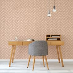 Bold Bright Colourful Statement Pattern Wallpaper for Teenagers | COLOROLL STOCKHOLM GEOMETRIC WALLPAPER IN ORANGE | Buy Online
