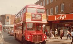 Lewisham High Street Lewisham South East London England in the Late London Bus, Old London, East London, My Route, Routemaster, Double Decker Bus, Bus Coach, London Transport, London Places