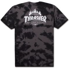 2caca6c7bf9e Huf x Thrasher Tour De Stoops Crystal Wash Tee in black.