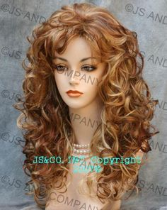curly hair with blonde, auburn and carmel | ... RS29 Beautiful mixture of Golden Blonde, Red Auburn and Medium Auburn