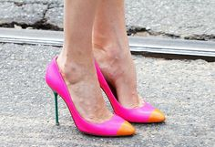 Hot heels at Milan Fashion Week.