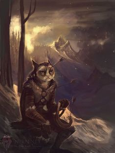 Grumpy Cat as Kahjiit.  Skyrim