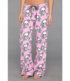 P.J. Salvage Floral Skull Cotton Flannel Pajama Pant